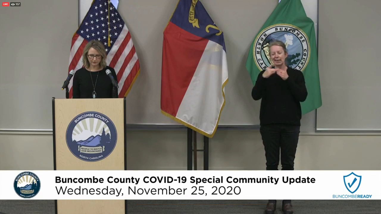 Buncombe County Health COVID-19 update, 11-25-20