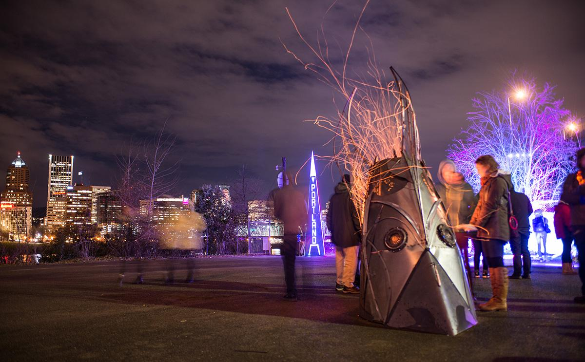 Photos Portland S Winter Light Festival On The Waterfront