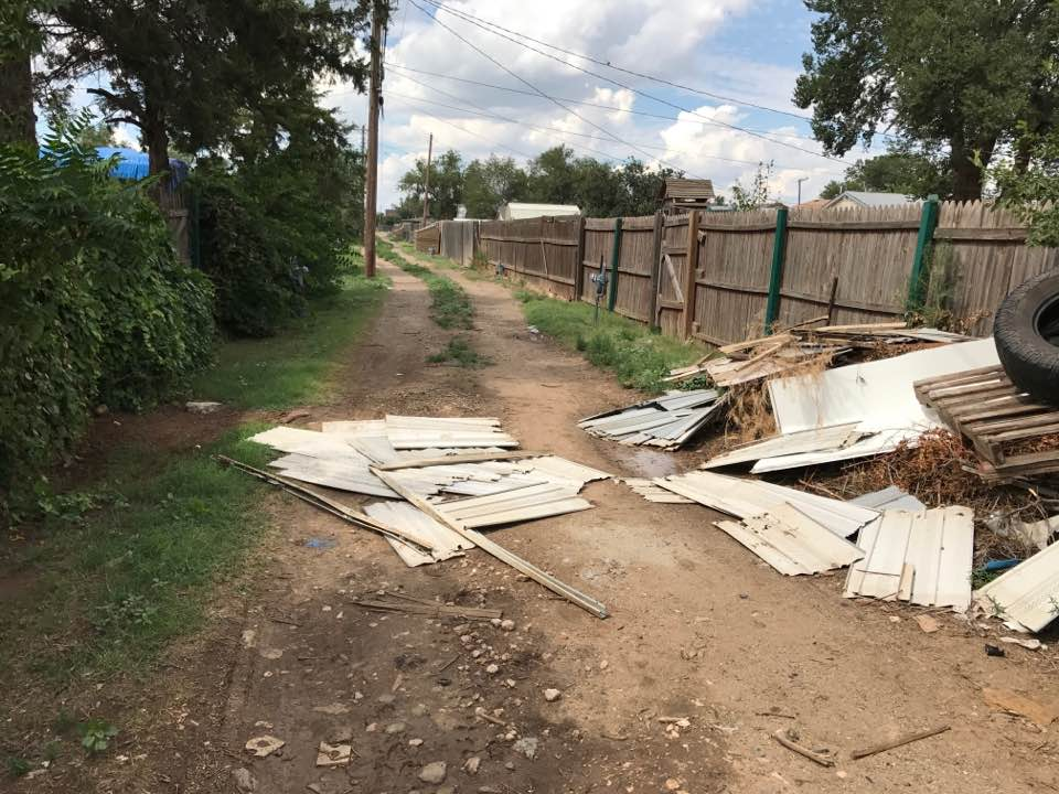 Some Amarillo residents say they have had trash piled up in their alleyways for months. They say they have called the city, but it is still there. (Photo of alley in northeast Amarillo by resident Tracie West)