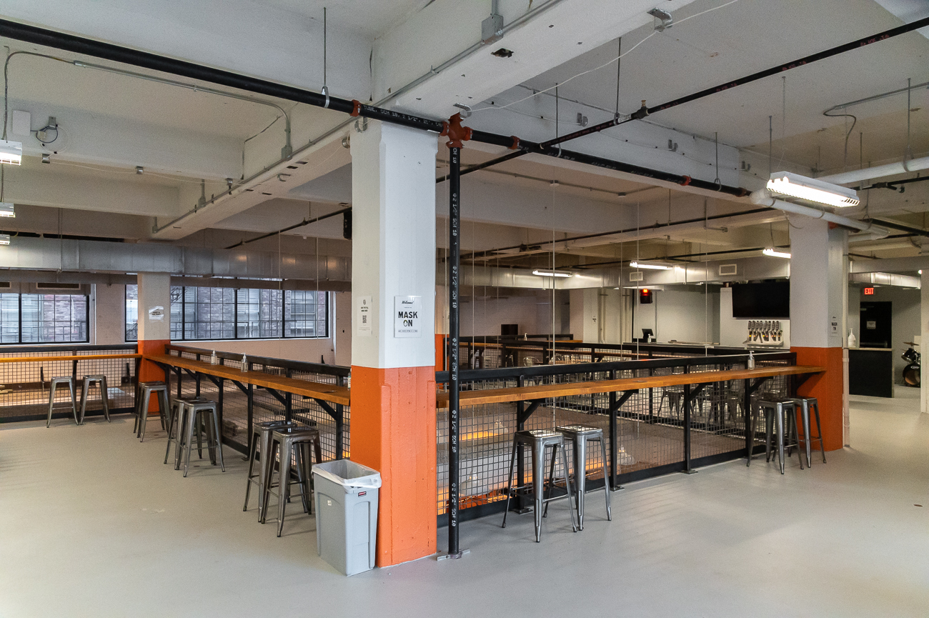 Drawing Dept, the architect, was tapped to redesign the space for the brewery. The Loring Group was the General Contractor. / Image: Phil Armstrong, Cincinnati Refined // Published: 10.21.20