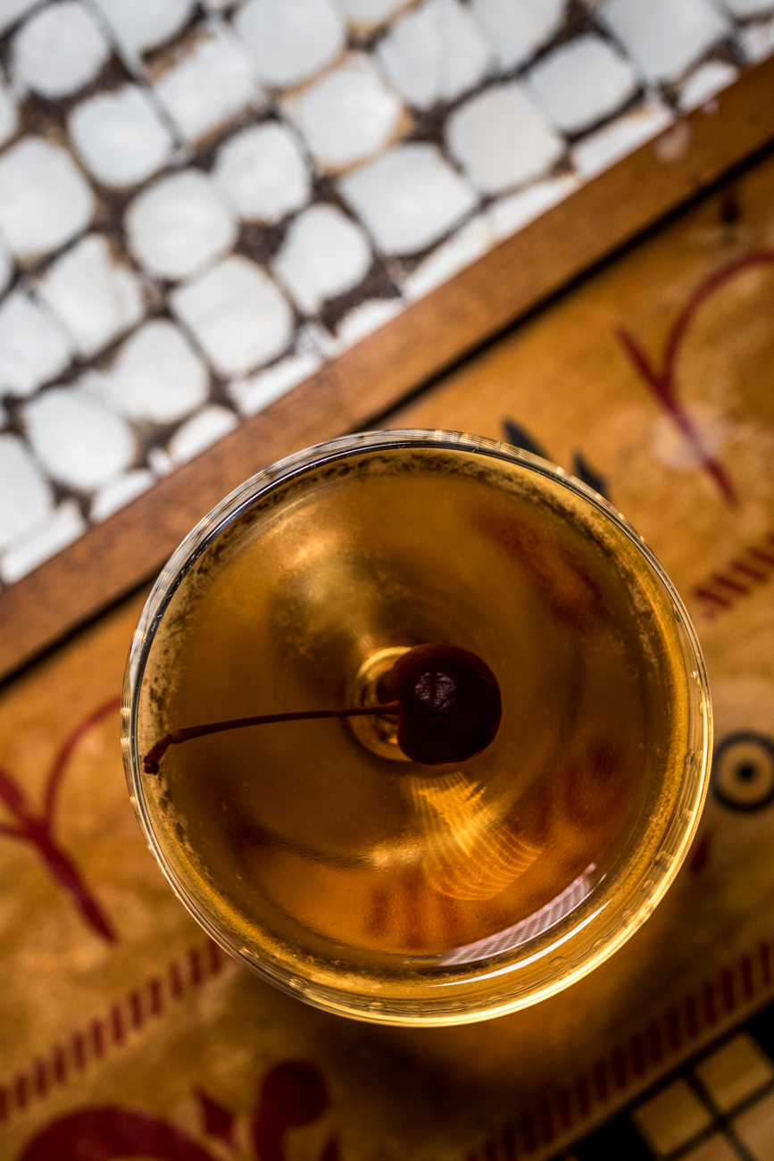 Tequila Manhattan: reposado tequila, mezcal, vermouth, Angostura, and orange bitters / Image: Catherine Viox // Published: 1.23.20