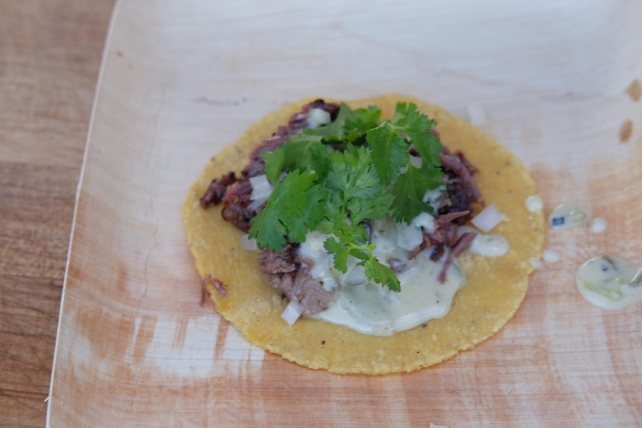 Podnah's BBQ put out a taco made from beef rib (Image: Naomi Tomky / Seattle Refined)