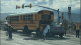 One dead after small car rear-ends Utah school bus
