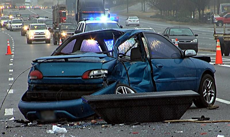 6-car accident on Highway 280 on Tuesday, January 15, 2013.
