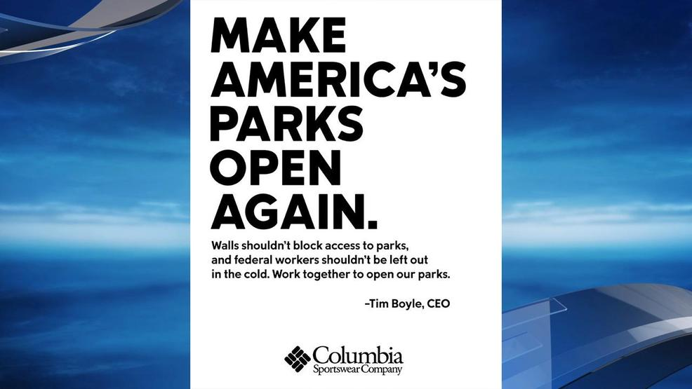 Columbia Sportswear CEO asks White House, congressional leaders to reopen national parks