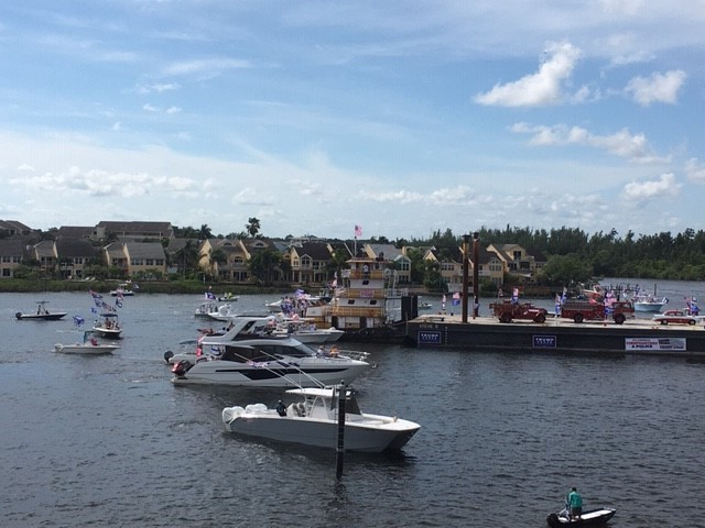 Last Trump boat parade before election held in Jupiter. (Courtesy: Clarence)