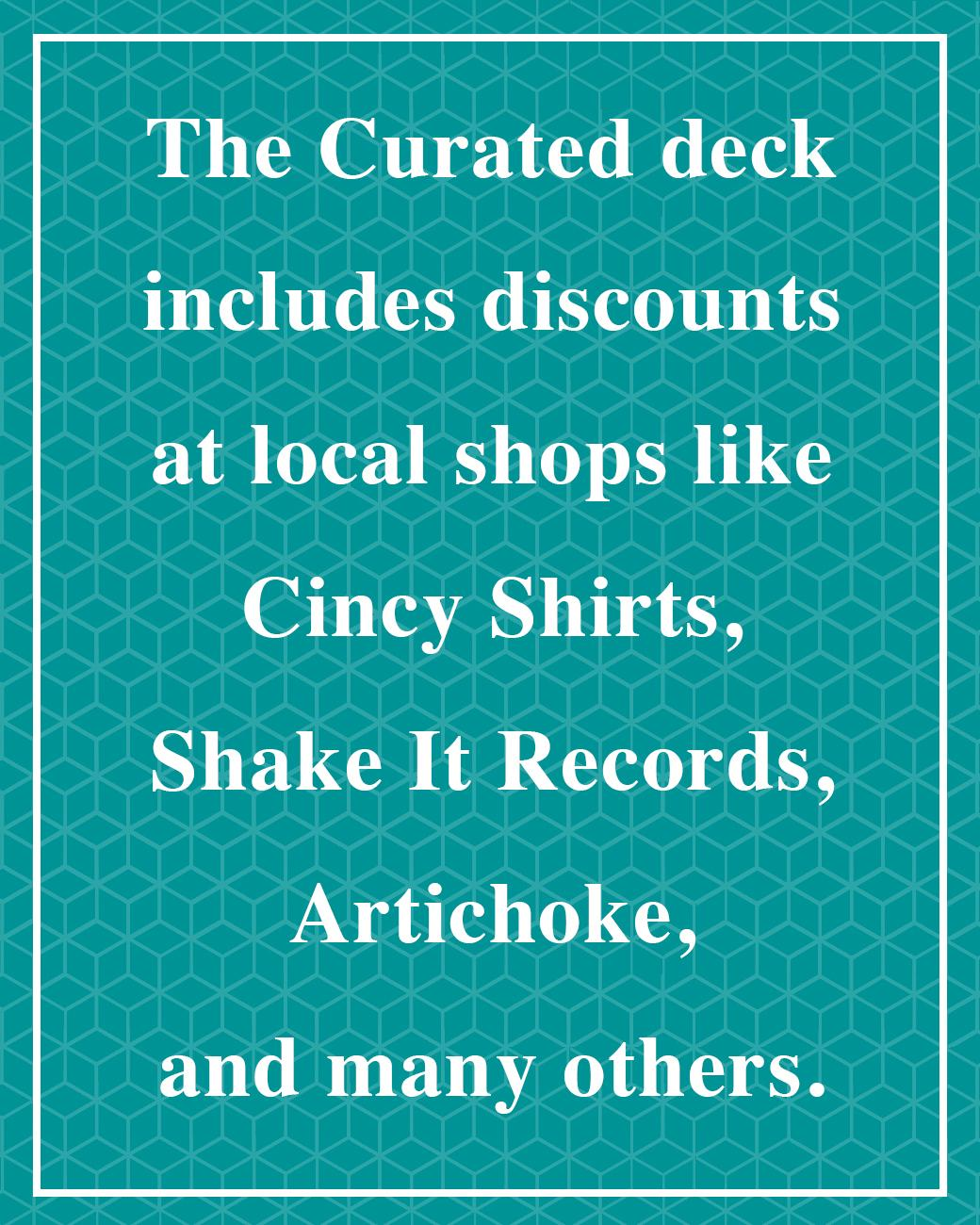 A lot of local businesses have signed up to offer discounts to those who own a deck.