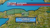 Lakeshore flood warning on Lake Ontario